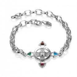 Schutzkreuz 30mm Silber 925 als Armband NEU