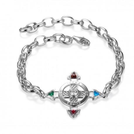Schutzkreuz Silber 925 als Armband NEU