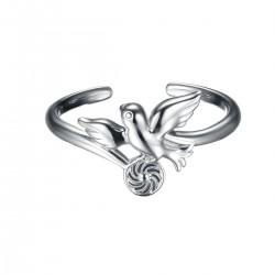 Energie-Schutz-Ring Taube in 925 Silber
