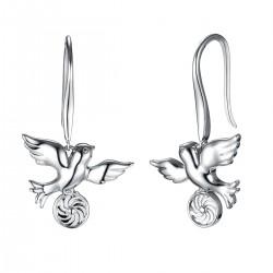 Energie-Schutz-Ohrringe Taube in 925 Silber
