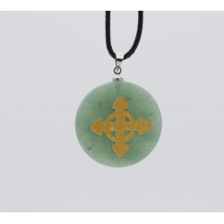Schutzkreuz eingraviert 30mm aus Jade