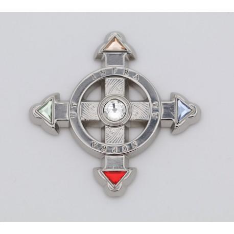 Schutzkreuz als Aufkleber in 40mm aus Zink