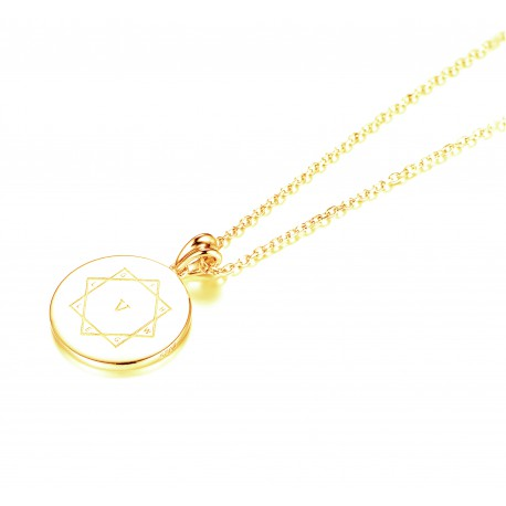 Kraft-Amulett 18mm in Gold 585