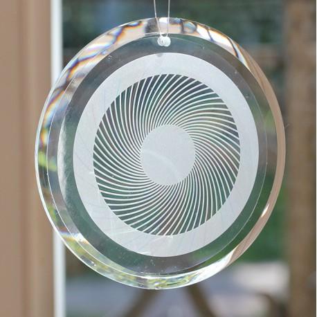 Energieglasscheibe 80 mm Rand Glatt