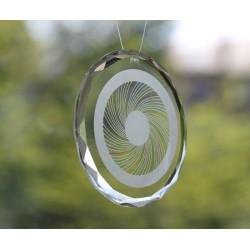 Energieglasscheibe 80 mm Facettenrand