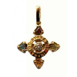 Schutzkreuz Gelbgold 585 in 18 mm