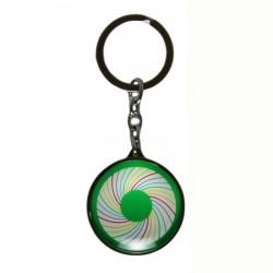 Metall-Glas-Schlüsselanhänger