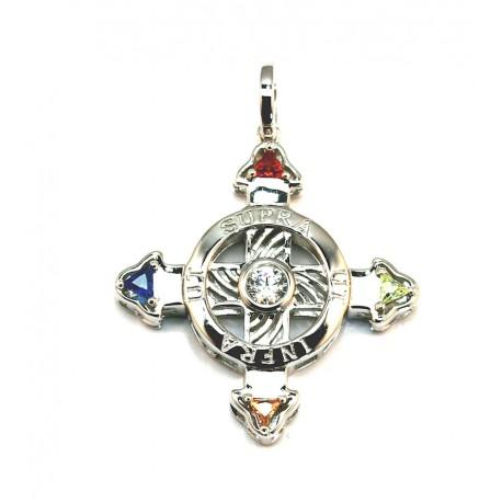Schutzkreuz Silber 925 30mm 3D
