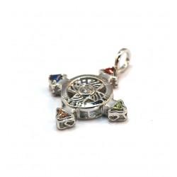 Schutzkreuz 3D Silber 925 Silber 30mm