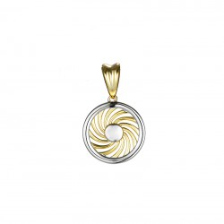 Energie-Schutz-Kreis 12mm Silber 925 Lücke