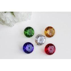 Kraftkristalle 40mm in 5 Farben SET (rund)