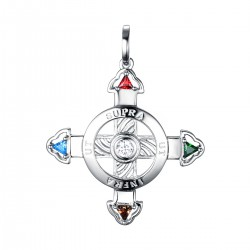 Schutzkreuz Silber 925 30mm NEU