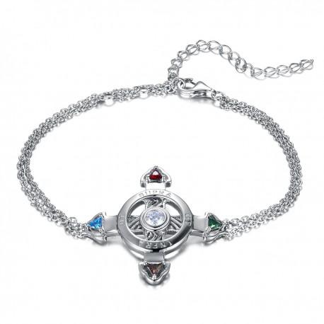 Schutzkreuz Silber 925 als Armband