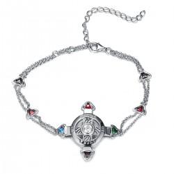 Schutzkreuz Silber 925 als Armband NEU Kette mit Steinen