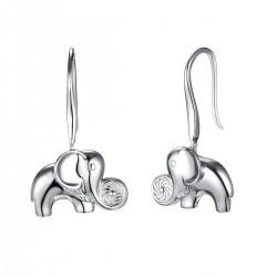 Energie-Schutz-Ohrringe Elefant in 925 Silber