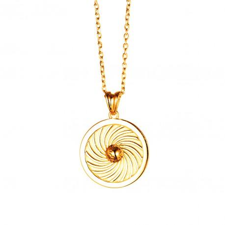 Energie-Schutz-Kreis Erde 18mm 585 Gold
